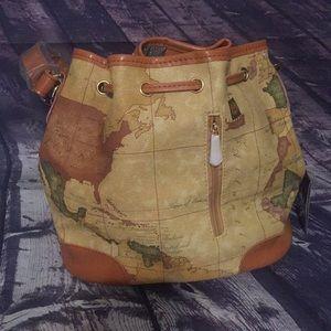 Nucelle Bags - Nucelle Drape Map Bucket Bag